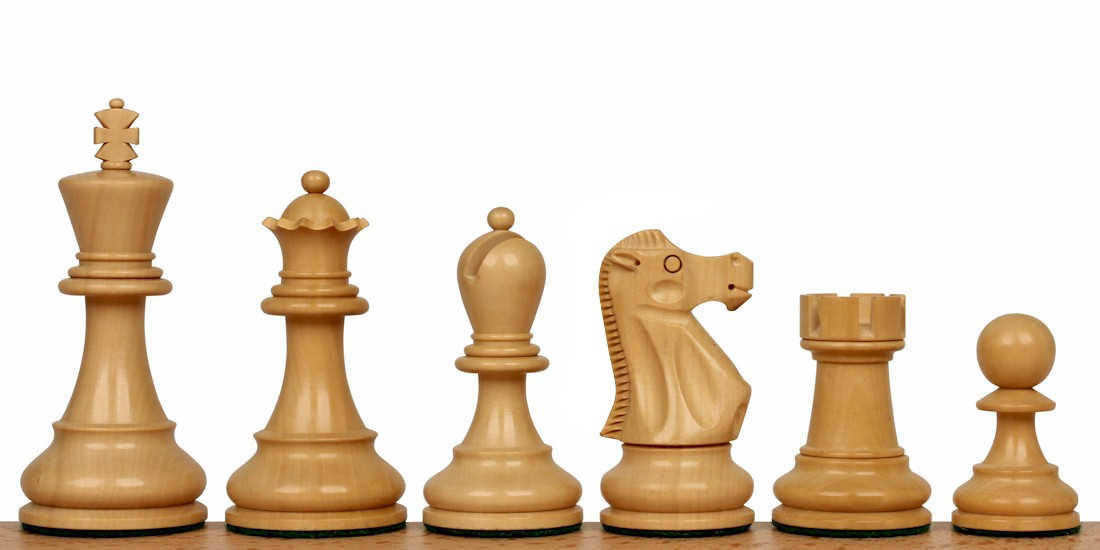 Deluxe Old Club Staunton Wood Chess Pieces