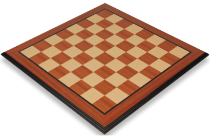 Mahogany & Maple Molded Edge Chess Boards