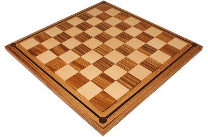 Mission Craft Zebrawood & Maple Chess Boards
