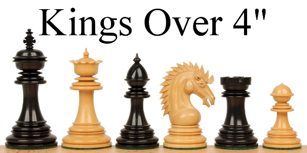 "Chess Pieces with Over 4"" King"