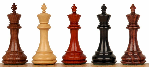 Wood Chess Pieces by Wood Type