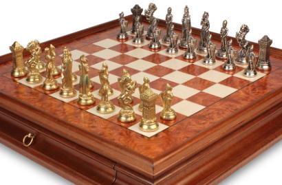 Metal Theme Chess Sets