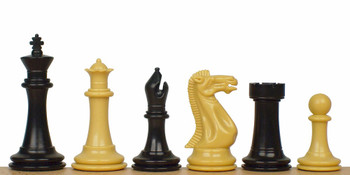 Executive Plastic Chess Set in Black Camel 3875 King