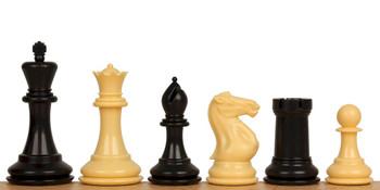 Conqueror Plastic Chess Set Black Camel Pieces 375 King