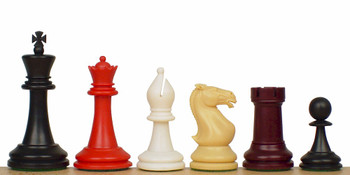 Crown 5 Color Plastic Chess Set with 85 Pierces 4 King
