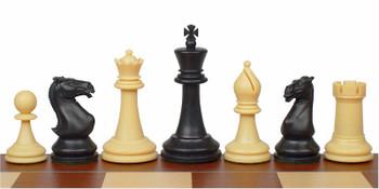 Crown Plastic Chess Set Black Camel Pieces 4 King
