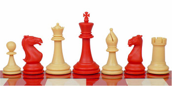 Crown Plastic Chess Set Red Camel Pieces 4 King