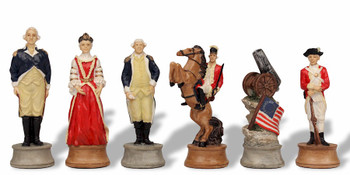 American Revolutionary War Theme Chess Set