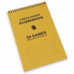 50 Games Chess Score Book Gold