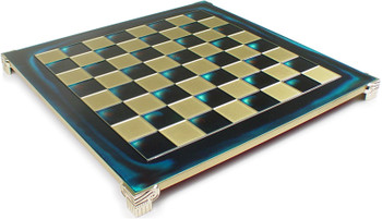 Brass Blue Chess Board 175 Squares