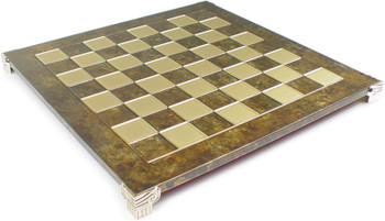 Brass Brown Chess Board 175 Squares