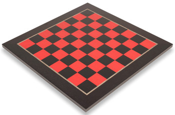Black Red High Gloss Deluxe Chess Board 2125 Squares