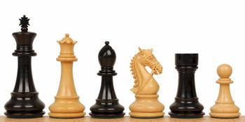 Bridled Stallion Staunton Chess Set in Ebony Boxwood 475 King