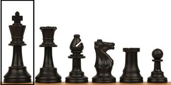 Club Plastic Chess Set Single King Black