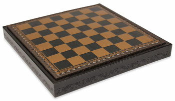 Black Gold Leatherette Chess Case 175 Squares