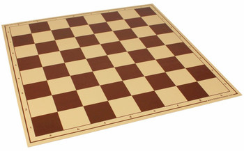 Brown Buff Vinyl Rollup Chess Board Brown 225 Squares Imperfect