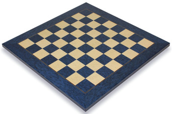 Blue Ash Burl Erable High Gloss Deluxe Chess Board 15 Squares
