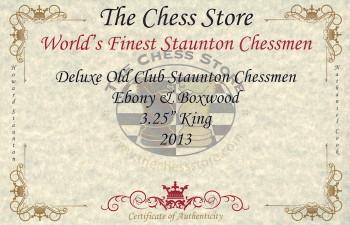 Deluxe Old Club Staunton Chess Set Ebony Boxwood Pieces with Mahogany Chess Box 325 King