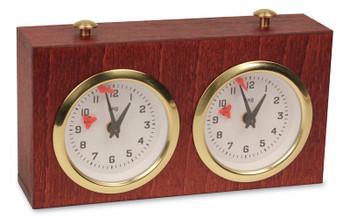BHB Exklusiv Chess Clock Mahogany