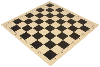 """Analysis-Size Vinyl Rollup Chess Board Black & Buff - 1.5"""" Squares"""