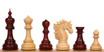 Bucephalus Staunton Chess Set with Padauk Boxwood Pieces 45 King