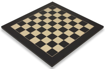 Black Erable Deluxe Chess Board 2 Squares