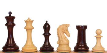 Imperial Staunton Chess Set in Red Sandalwood Boxwood 6 King