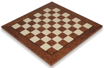 Brown Ash Burl Erable High Gloss Deluxe Chess Board 175 Squares