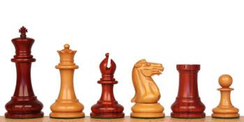 1849 Heirloom Staunton Chess Set Padauk Boxwood Pieces 44 King