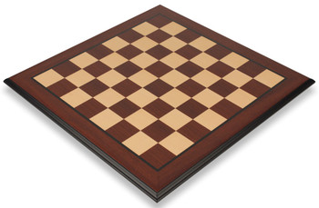 Bud Rosewood Maple Molded Edge Chess Board 2 Squares