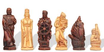 Christopher Columbus Theme Chess Set