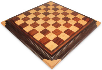 Copy of Red Amboyna Birds Eye Maple Custom Made Solid Wood Chess Board 25 Squares