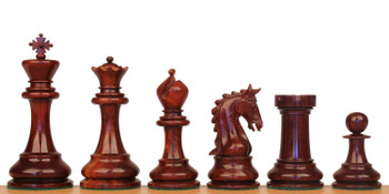 Cambridge Staunton Chess Set in Red Sandalwood Boxwood 44 King