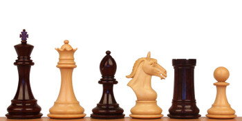 Derby Knight Staunton Chess Set with Ebony Boxwood Pieces 4 King
