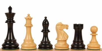 British Staunton Chess Set with Ebony Boxwood Pieces 4 King