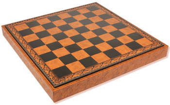Brown Black Leatherette Chess Case 2 Squares