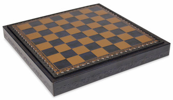 Blue Gold Leatherette Chess Board Tray 1375 Squares