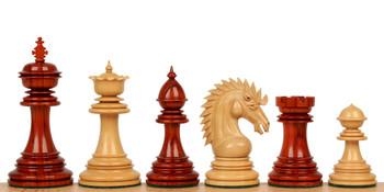 Cyrus Staunton Chess Set with Padauk Boxwood Pieces 44 King