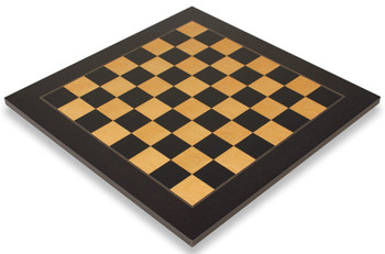 Black Ash Burl High Gloss Deluxe Chess Board 2 Squares