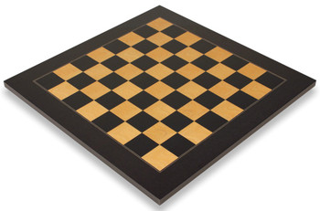 Black Ash Burl High Gloss Deluxe Chess Board 2125 Squares