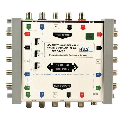 Hills BC84487 5-Wire, 2-Way 10dB Tap