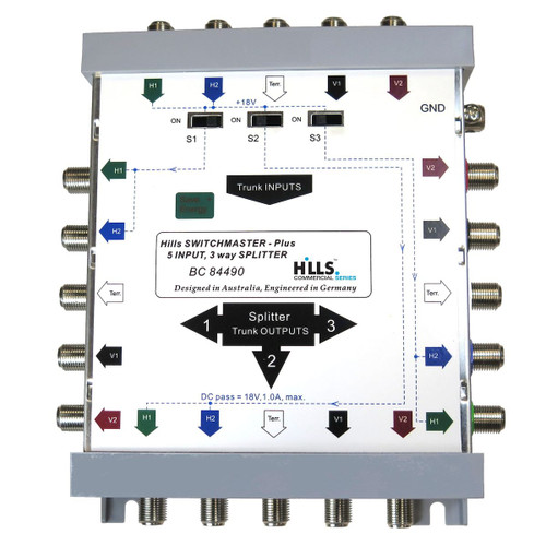 Hills BC84490 5-Wire, 3-Way Multi-Splitter