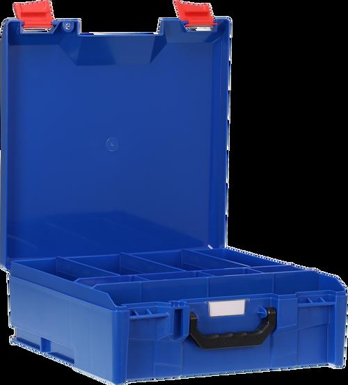 StorageTek Case Large ABS Lid c/w dividers-Blue