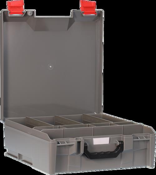 StorageTek Case Large ABS Lid c/w dividers-Grey