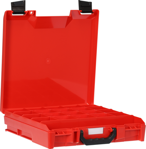 StorageTek Case Small ABS Lid-Red with Black Clasps