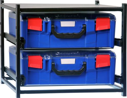 2 Large  Drawer Frame Assembled c/w 2 Large PC Lid Cases- Blue