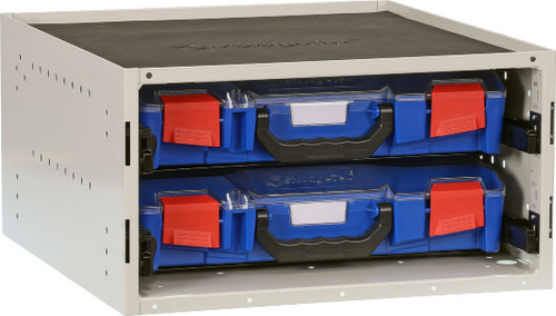 Cabinet c/w 2 STS Small PC lid Cases- Blue