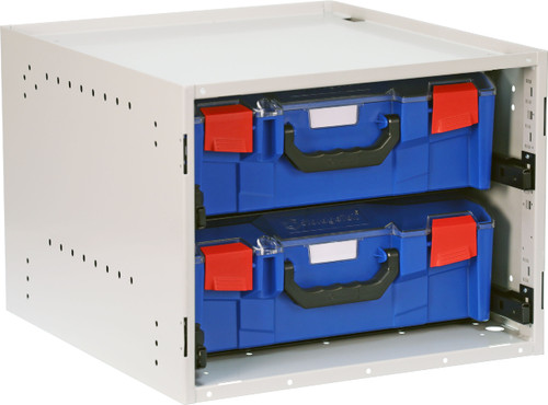 Cabinet c/w with 2 Large PC Lid Cases - Blue