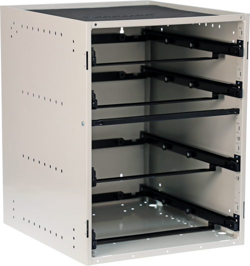 Cabinet holds 2 Large + 2 Small Cases