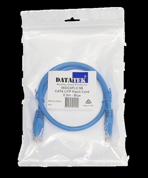 Datatek 0.5 Metre CAT6 UTP Patch Lead